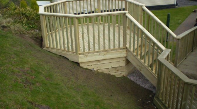 Octagon Decking Project in Conwy
