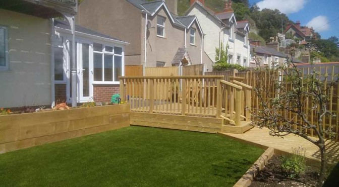 Garden Makeover in Llanduno